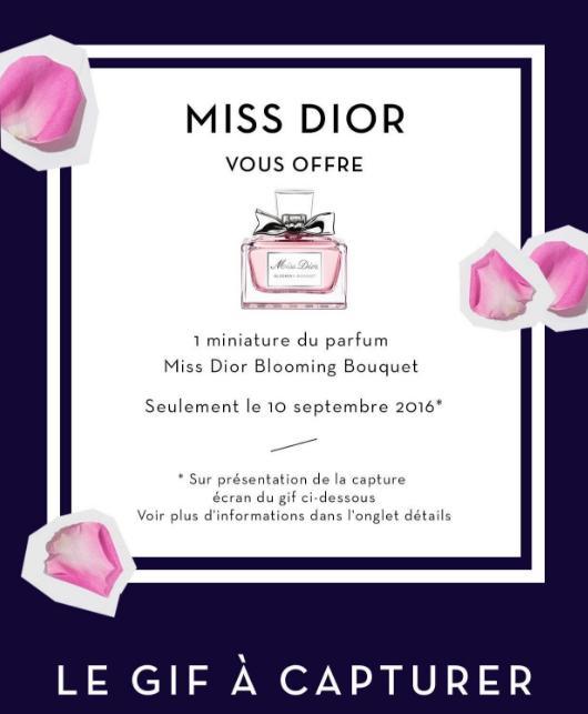 Miniature Miss Dior Blooming Bouquet offerte (via mylittleapp)