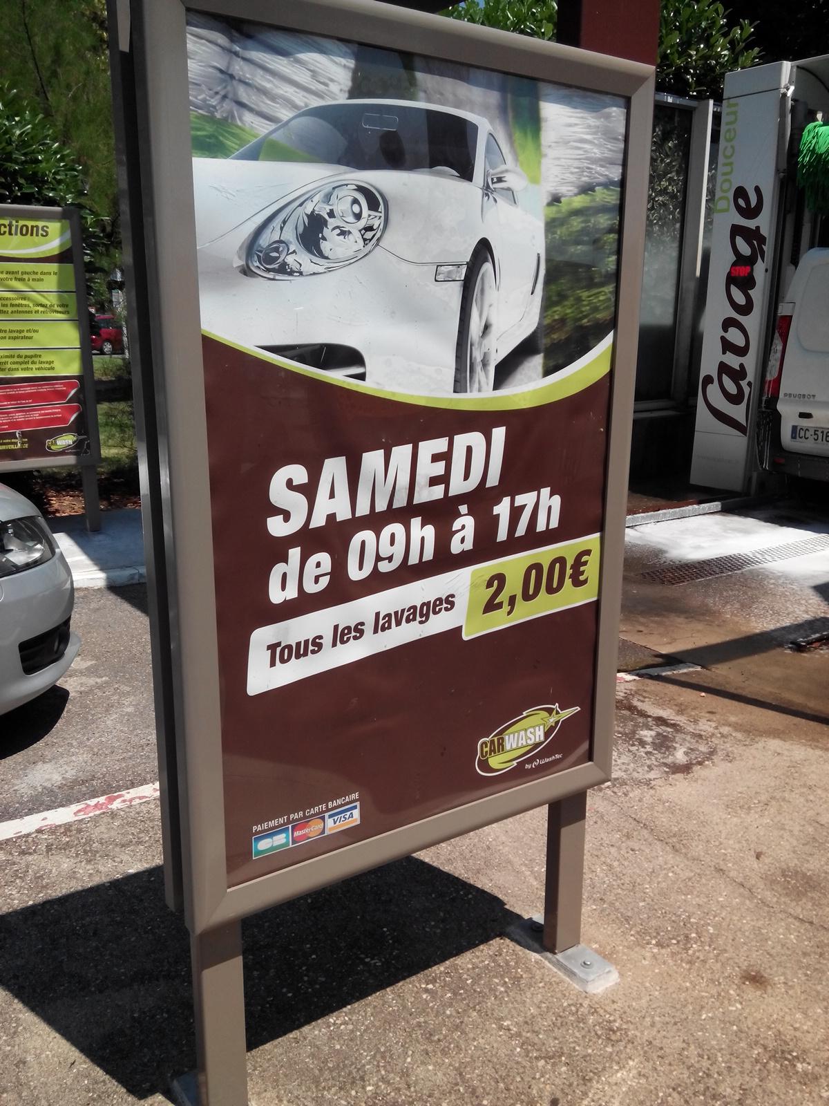 Aujourd'hui seulement : Tous les lavages automobile de 9h à 17h