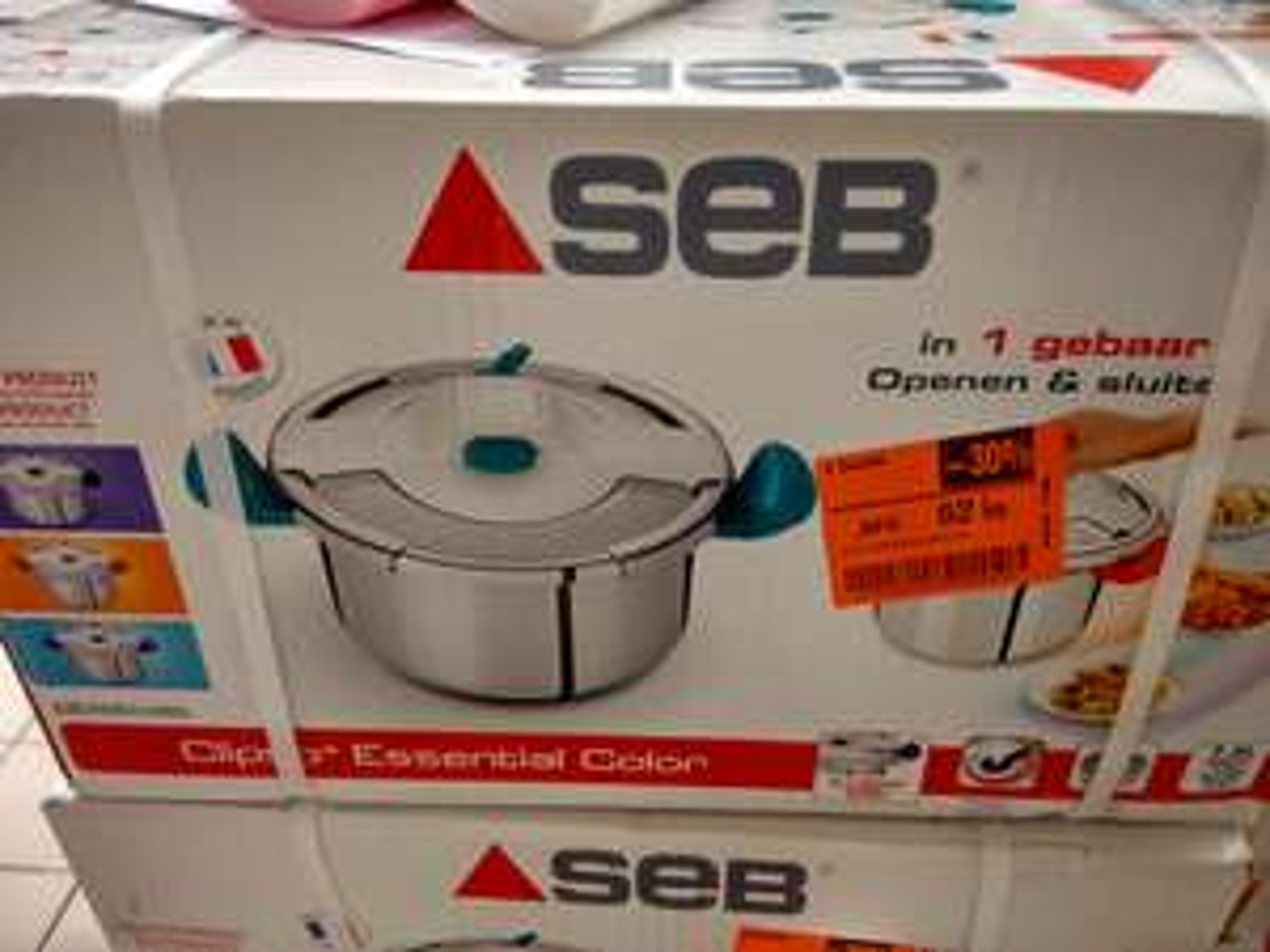 Autocuiseur Seb Clispo Essential Colors Turquoise P4464805 - 7.5L