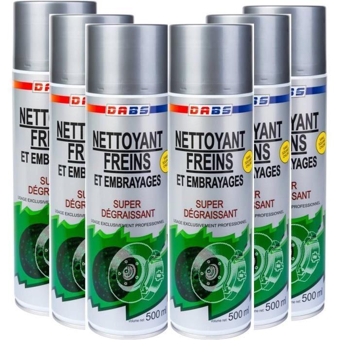 [Cdiscount à volonté] Lot de 6 aérosols nettoyant frein professionnel DABS 500 ml