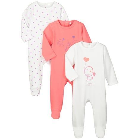 Sélection de vêtements en promo - Ex : 3 Pyjamas Inextenso - Taille 1 à 24 mois