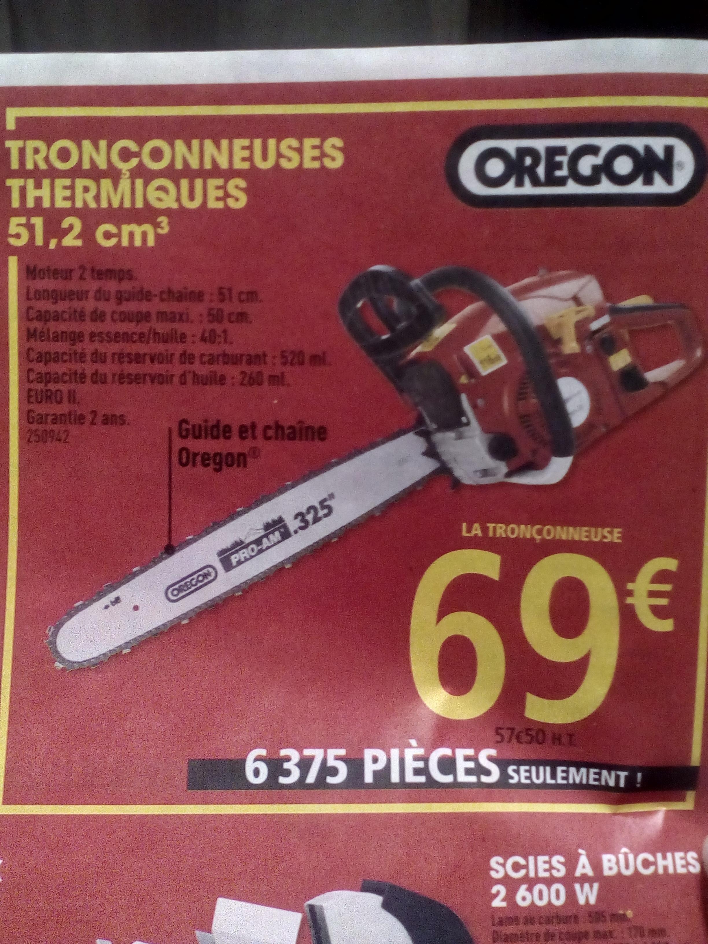 Tronçonneuse thermique 51,2 cm³