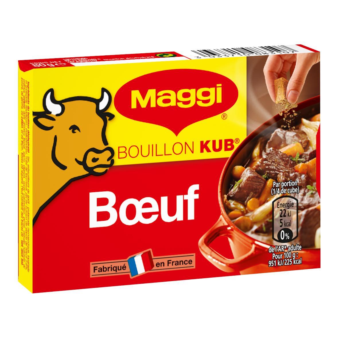 Boite de 18 tablettes de Bouillon Kub Maggi (Variétés au choix) - 180g (Via BDR)