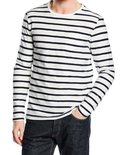 [Panier plus] T-shirt à rayures  Celio Declassic Col rond - Manches longues Taille S