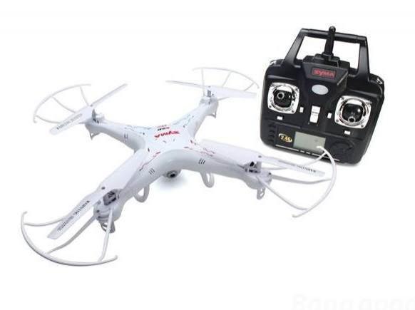 Drone quadricoptère Syma X5-SC Explorers 2 (avec caméra, blanc)