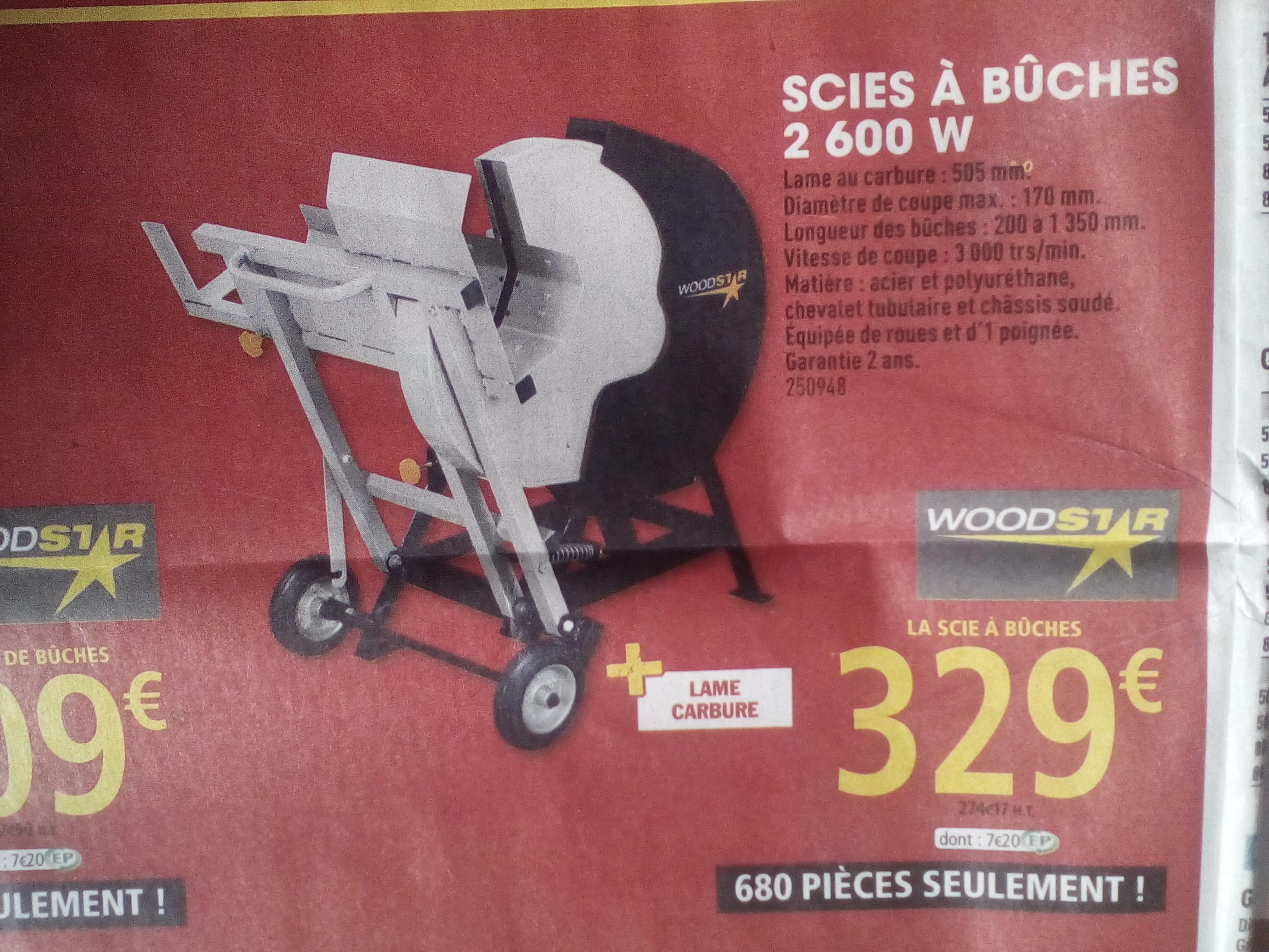 Scie à bûches 2600W Woodstar