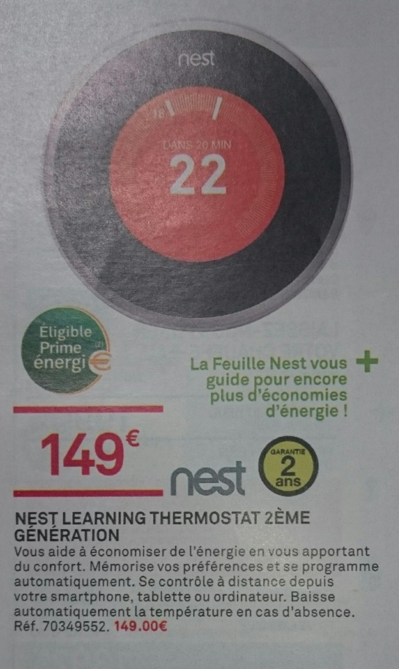 Thermostat Nest Learning - 2 ème génération
