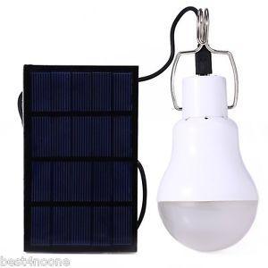 Panneau Solaire portable + Ampoule LED - 15W, 130lm