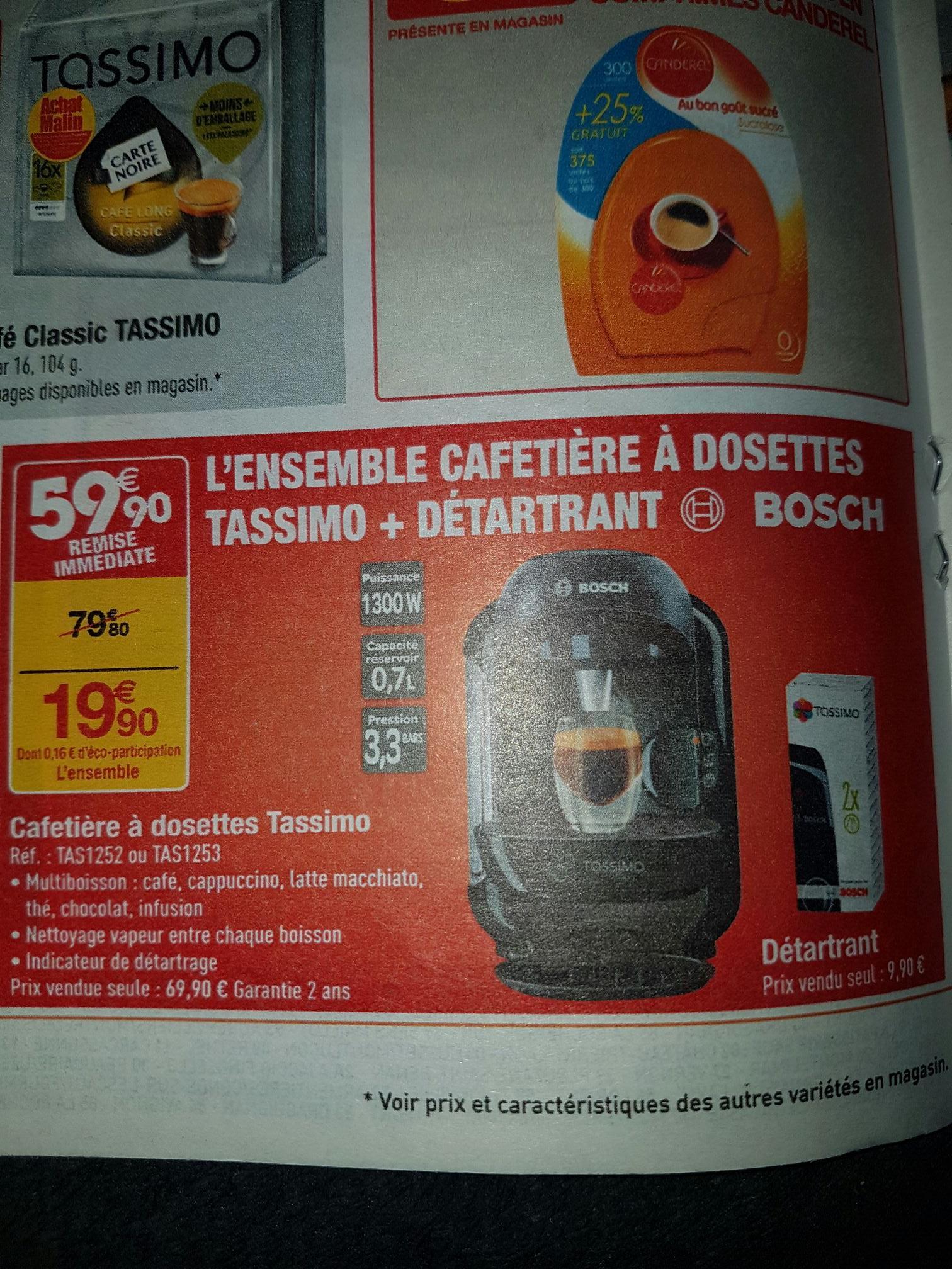Sélection de produits en promotion - Ex: Cafetière à dosettes Bosch Tassimo (Noir) + Détartrant