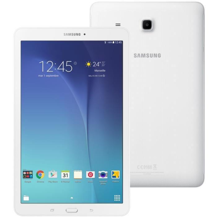 """Tablette 9.6"""" Samsung galaxy tab E (Blanche 3G Wifi 8Go) (+ jusqu'à 199.99€ en 2 bons d'achat)"""