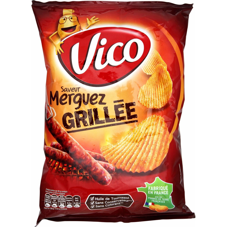 4 paquets de Chips Vico de 120G (plusieurs parfums)