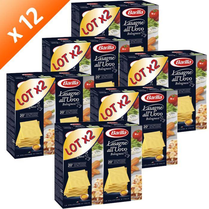 BARILLA Lasagnes Oeufs 12x500g