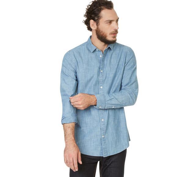 30% de réduction immédiate sur la Mode (Hors exceptions) - Ex: Chemise Chambray coupe Slim pour Hommes (Bleu)