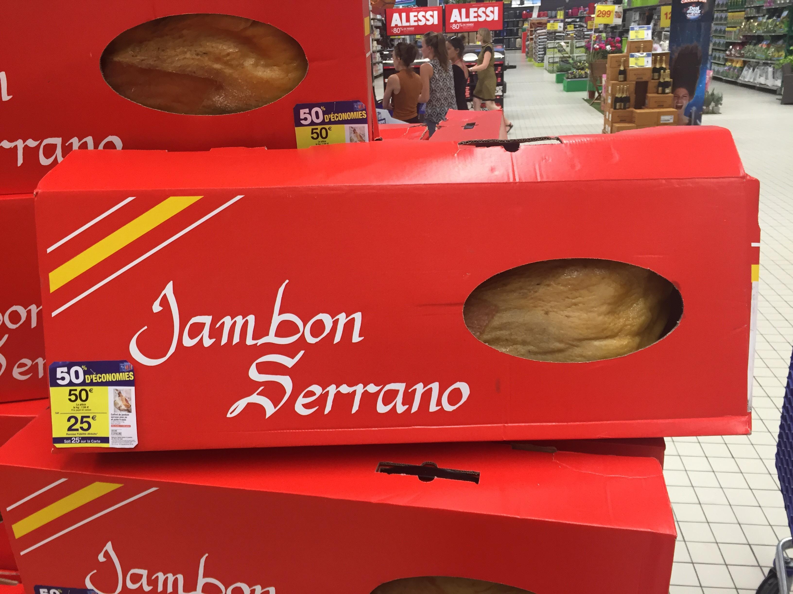 Jambon Serrano 9 mois 6,3 kg (25€ sur la carte fidélité)