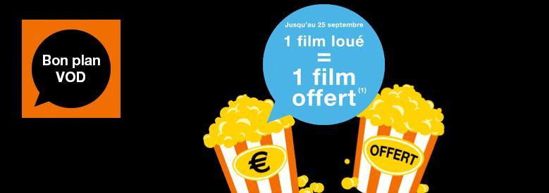 1 film loué en VOD = 1 film offert dans la limite de 3 films offerts au maximum
