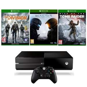 Console Microsoft Xbox One 1 To + Tom Clancy's The Division + Halo 5 Guardians + Rise of The Tomb Raider