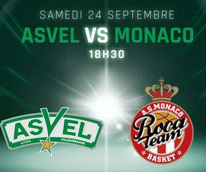 Match de basketball Asvel - Monaco le 24/09/16