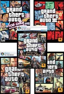 Grand Theft Auto Complete Pack sur PC (5 Jeux)