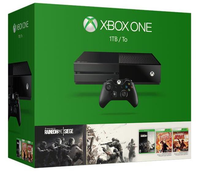 Console Microsoft Xbox One 1To + Tom Clancy's : Rainbow Six Siege + Six : Vegas + Rainbow Six : Vegas 2