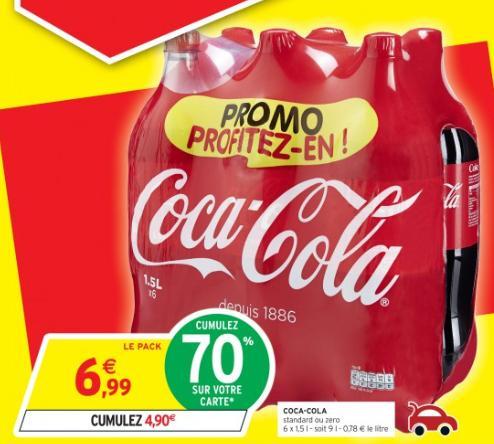 Sélection de produits en promotion / optimisations - Ex : 2 Packs de 6x1.5L de Coca-Cola (via carte fidélité + BDR)