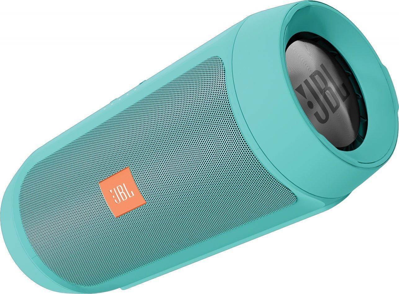 Enceinte Nomade Sans-fil JBL Charge 2+ (Turquoise) - 15W, Splashproof, Bluetooth
