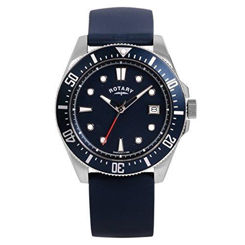 Montre Rotary GS00319/05 (mouvement cristal, bracelet caoutchouc, bleu)