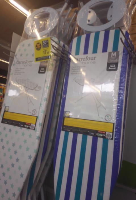 Table à repasser Carrefour Home 120x40cm