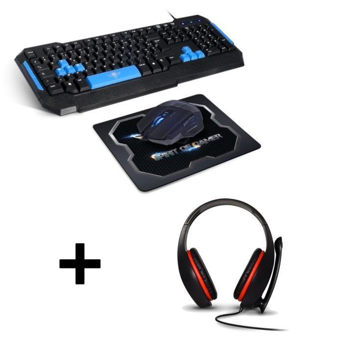 Pack Spirit Of Gamer Pro-MK6 (Clavier, souris et tapis) + Casque Pro-H5