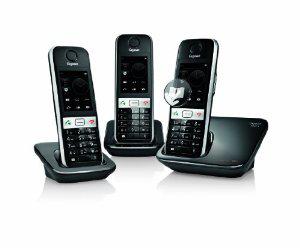Gigaset S820A Trio - Set de 3 téléphones fixes sans fil DECT - Ecran tactile, Bluetooth...