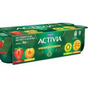 Pack de 8 Activia Fruits - 8x125g ( via BDR )