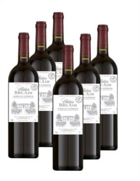 12 bouteilles de Bordeaux Supérieur, Château Bel Air, 2012