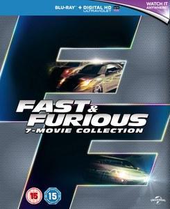 Coffret BluRay Fast & Furious - L'intégral des 7 films (VO uniquement pour le 4,5,6)