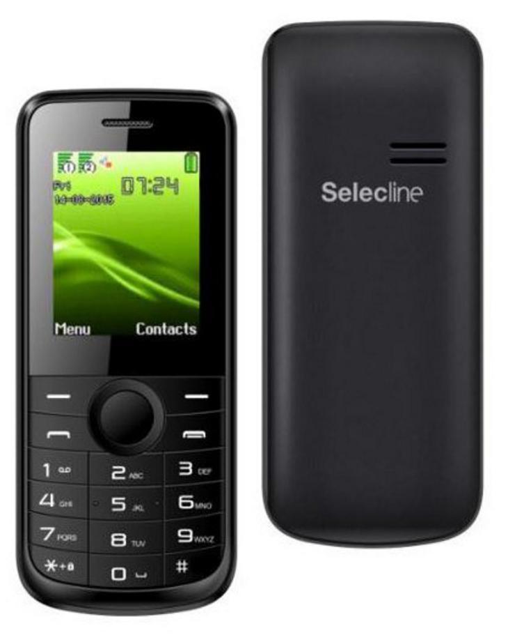 Téléphone Selecline 863335 Dual Sim Noir