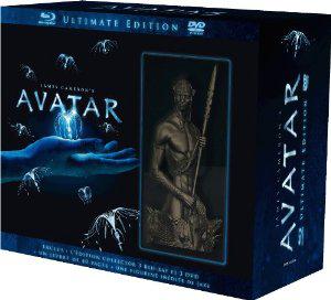Avatar, version longue - Coffret 3 DVD + 3 Blu-ray - Edition limitée et numérotée avec statuette + livre