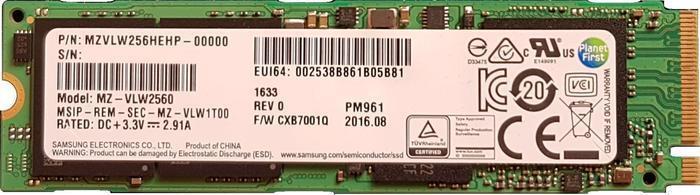 [Précommande] SSD Interne M2 2280 Samsung PM961 (V-NAND TLC) - 1 To, NVME PCIe 3.0 4x