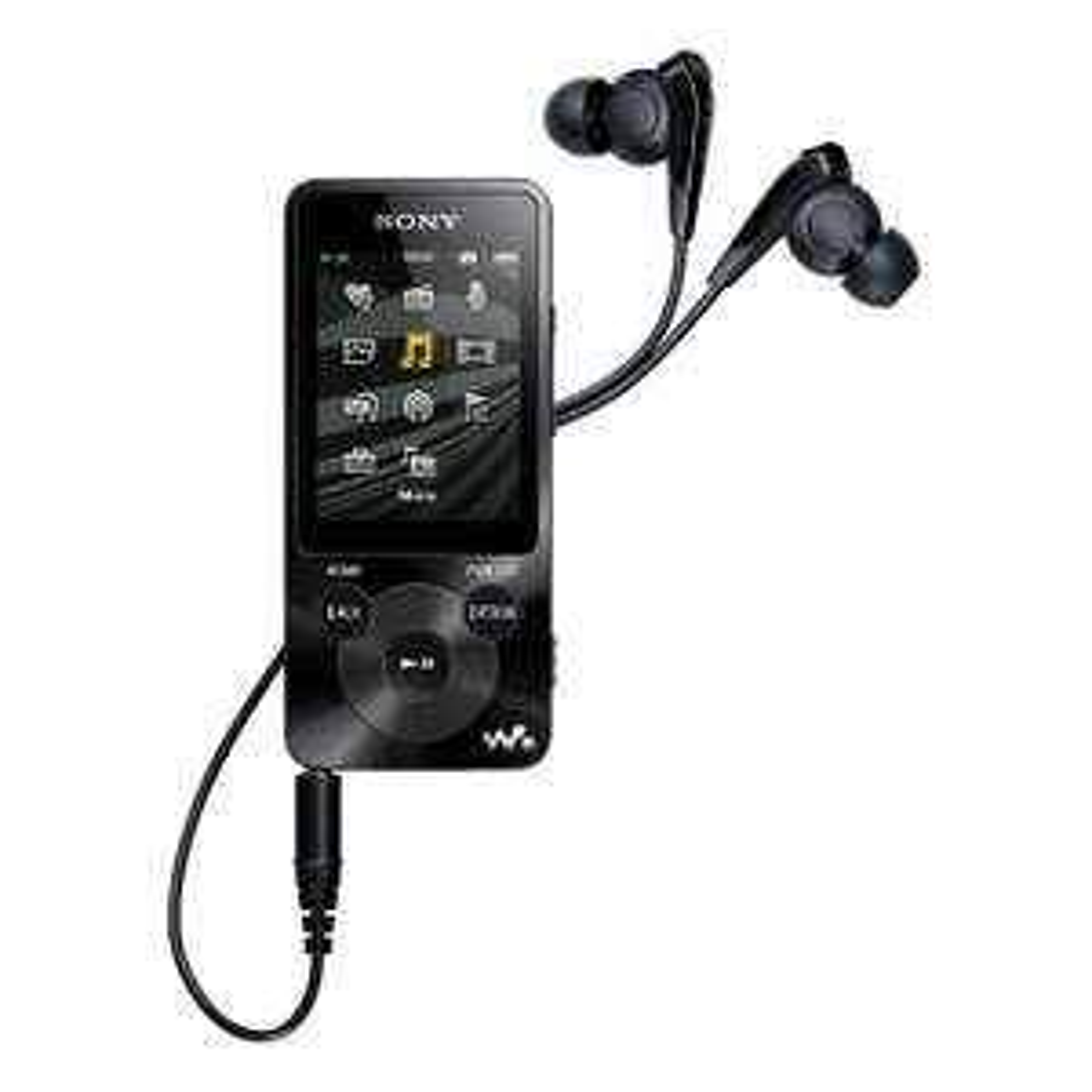 """Lecteur multimédia 2"""" Sony NWZ-E585B Noir - 16Go + Ecouteurs Intra-auriculaires Sony MDR-NC31ELP à réduction de bruit"""