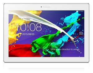 "Tablette 10"" Lenovo TAB2 A10-70 Blanc - IPS Full HD, Quad Core Mediatek MT8165 1.7Ghz,  RAM 2Go, 16Go, Android 5.0 (Via ODR 20€)"
