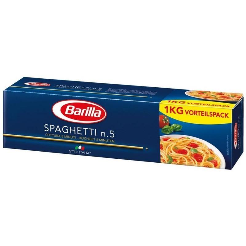 Lot de 6 paquets de pâtes Barilla - 1 kg, différentes sortes (via Shopmium)