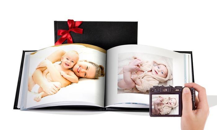Livre photos en cuir en promotion - Ex : Livre en cuir A5 Paysage relié - 20 pages (Frais de port inclus)