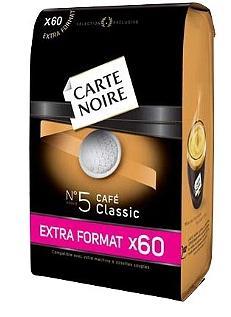 Paquet de 60 dosettes de Café Carte Noire Classic (Via carte de fidélité + BDR)