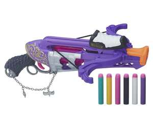 Arbalète Hasbro Charmed Nerf Rebelle + 6 Fléchettes