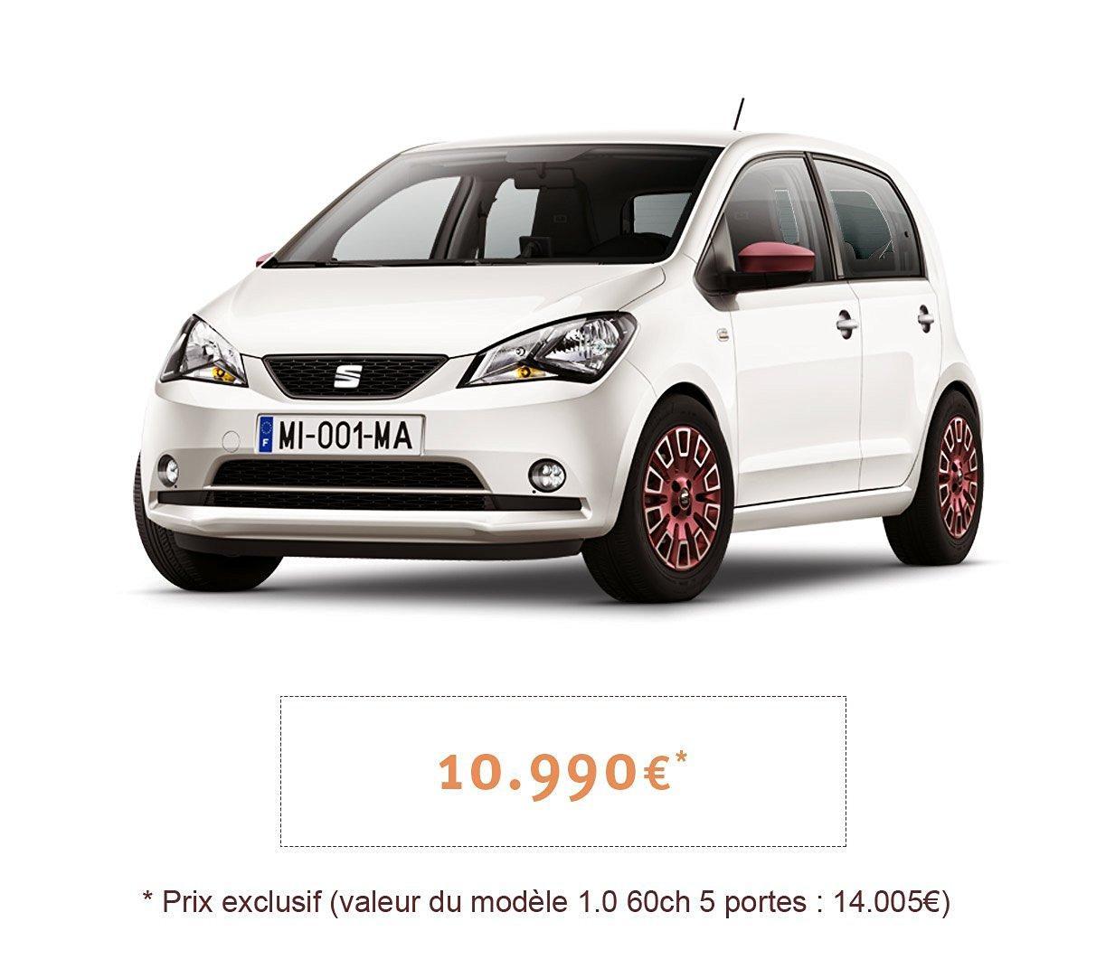 Voiture Seat Mii by Mango Limited Edition Blanc - 1.0, 60ch, 5 portes + Extension de garantie 5 ans + 200€ en chèque-cadeau