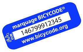 Marquage Bicycode de vélo gratuit