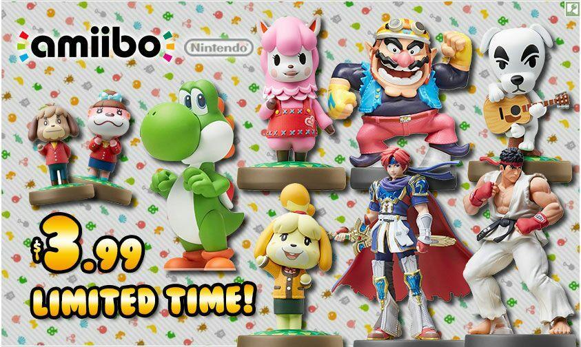 Sélection d'Amiibo en promotion - Ex : Animal Crossing ou Smash Bros