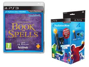 Book Of Spells + Wonderbook + Pack découverte PlayStation Move PS3 - Via Buyster