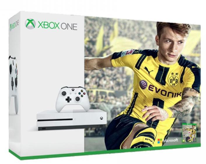 Console Xbox One S 500Go Blanc + Fifa 17
