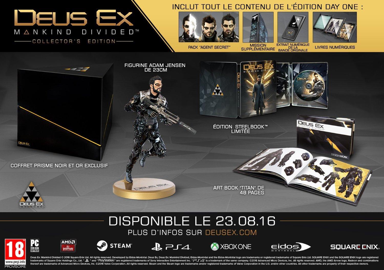 Deus Ex: Mankind Divided - Édition Collector sur PC