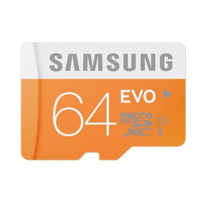 Carte mémoire MicroSDXC Samsung Evo Classe 10 - 64 Go