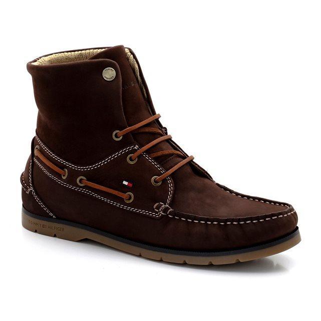 Boots en cuir, à lacets, Cain in Tommy Hilfiger (41 au 44)