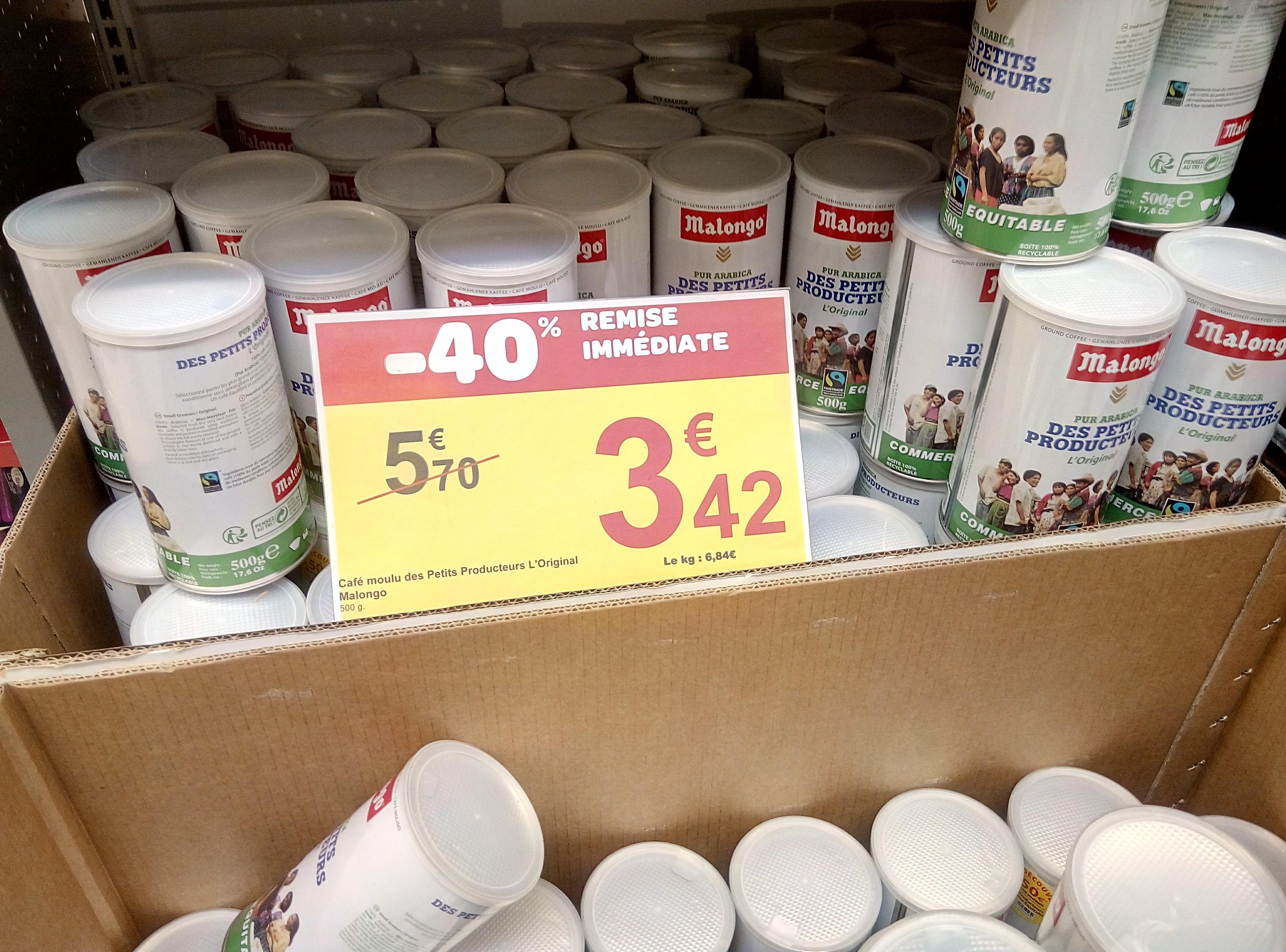 Café moulu 500 g des petits Producteurs l'original